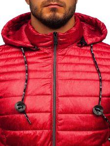 Červedná pánská prošívaná sportovní zimní bunda Bolf 50A411
