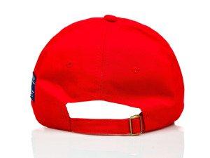 Červená kšiltovka Bolf CZ18