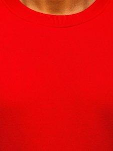 Červená pánská mikina bez kapuce Bolf BO-01