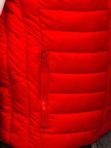 Červená pánská prošívaná vesta bez kapuce Bolf LY32