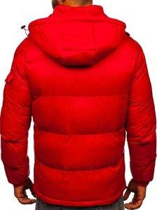 Červená pánská prošívaná zimní bunda Bolf 1161