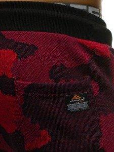 Červené pánské maskáčové tepláky Bolf 0917