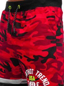 Červené pánské teplákové kraťasy Bolf KK300152