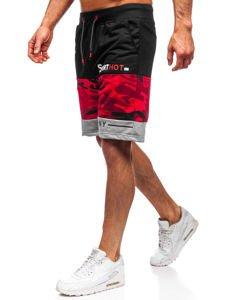 Červené pánské teplákové kraťasy Bolf KK300155