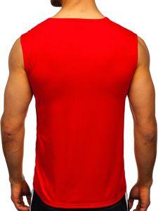 Červené pánské tílko s potiskem Bolf KS2091