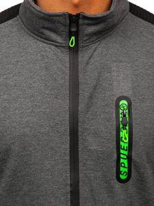 Grafitová pánská mikina na zip bez kapuce Bolf JX9827