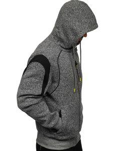Grafitová pánská mikina na zip s kapucí Bolf TC986