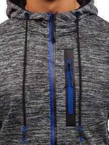 Grafitová pánská mikina na zip s kapucí Bolf TT79
