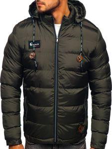Grafitová pánská sportovní zimní bunda Bolf 50A200