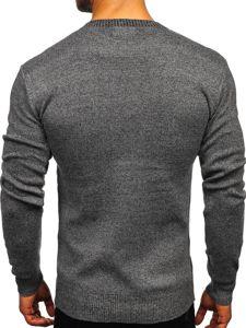 Grafitový pánský svetr Bolf 8364