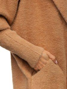 Kamelový dámský kabát Bolf 7108