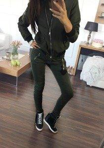Černá dámská kožená bunda z ekokůže Bolf 8138