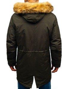 Khaki pánská zimní parka Bolf R103