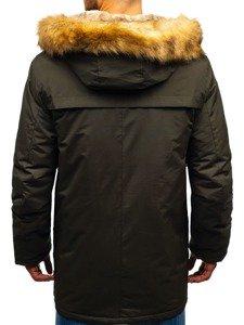 Khaki pánská zimní parka Bolf R105