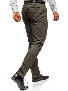 Khaki pánské chino kalhoty Bolf KA968