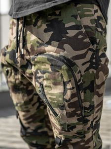 Khaki pánské jogger kalhoty Bolf 0956