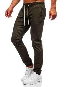 Khaki pánské jogger kalhoty Bolf 1145