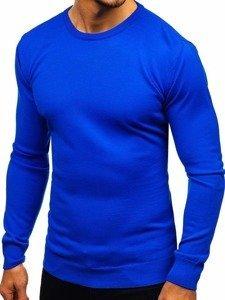 Královský modrý pánský svetr Bolf 2300