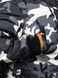 Maskáčovo-grafitová pánská přechodová bunda Bolf 2019005M