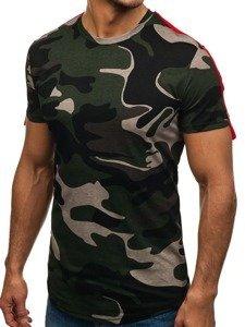 Maskáčovo-zelené pánské tričko s potiskem Bolf 181121