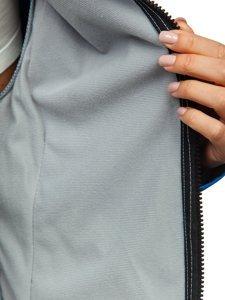 Modrá dámská přechodová softshellová bunda Bolf S010