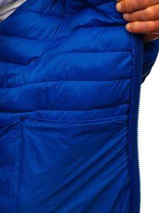 Modrá pánská prošívaná přechodová bunda Bolf LY35