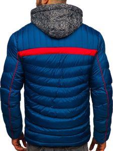 Modrá pánská prošívaná sportovní zimní bunda Bolf 50A71