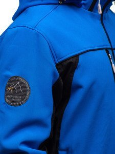 Modrá pánská softshellová bunda Bolf 5527