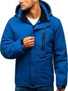 Modrá pánská zimní lyžářská bunda Bolf HZ8107