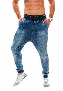 Modré džínové pánské baggy kalhoty Bolf 007b