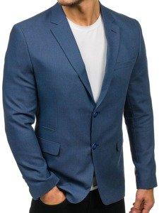 Modré pánské elegantní sako Bolf 1050