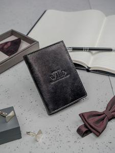 Pánská černá kožená peněženka 3137