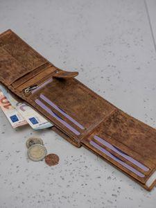 Pánská hnědá kožená peněženka 3130