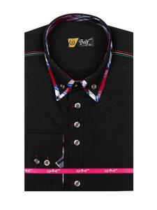 Pánská košile BOLF 3701 černá