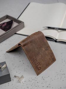 Pánská světle hnědá kožená peněženka 3182