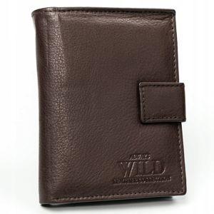 Pánská tmavě hnědá kožená peněženka 3143