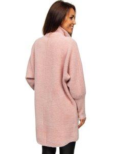 Růžový dámský kabát Bolf 7118-1