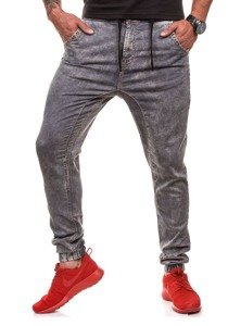 Šedé pánské džínové jogger kalhoty Bolf 4156-1