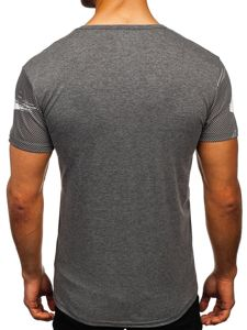 Šedé pánské tričko s potiskem Bolf SS10911