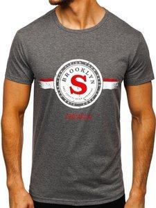 Šedé pánské tričko s potiskem Bolf SS11083
