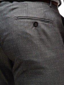 Šedý pánský oblek s vestou Bolf 18300