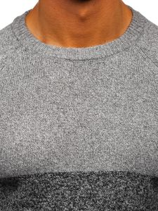 Šedý pánský svetr Bolf H1809
