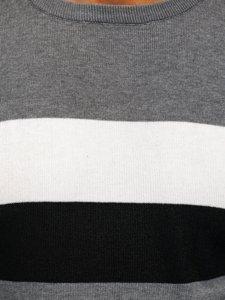 Šedý pánský svetr Bolf H2005