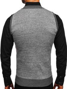 Šedý pánský svetr bez rukávů Bolf 8133