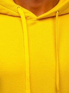 Sětle žlutá pánská mikina s kapucí Bolf 2009