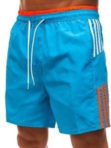 Světle modré pánské koupací šortky Bolf 246