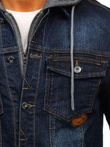 Tmavě modrá pánská džínová bunda Bolf AK531