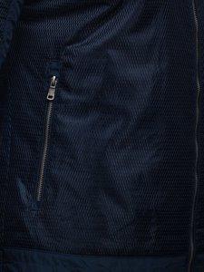 Tmavě modrá pánská přechodová bunda Bolf 1702