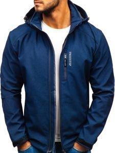 Tmavě modrá pánská softshellová bunda Bolf AB151