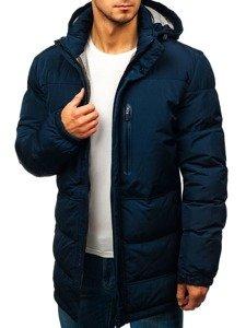 Tmavě modrá pánská zimní bunda Bolf 1669